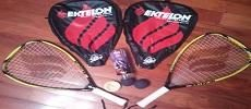 SET of 2 RAQUETS and BALLS - EKTELON POWER RING FREAK